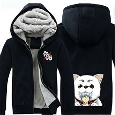 Vicwin-One Gintama Sakata Gintoki Logo Thick Hoodie Costume Cosplay (Size L) ** Read more  at the image link.
