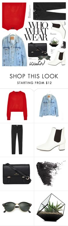 """""""Untitled #168"""" by jennysyhrnii ❤ liked on Polyvore featuring Equipment, Levi's, Acne Studios, River Island, Sloane, Who What Wear, Topshop and Ray-Ban"""