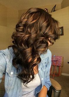 Deep Chocolate with Caramel Dark Brown Hair Colors for 2017