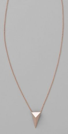 Rose Gold Pyramid Stud Necklace: Love this simple stud necklace by Alexis Bittar