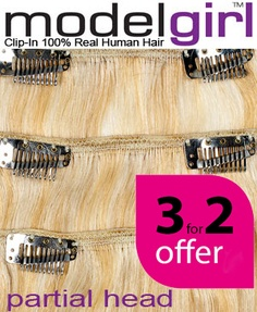 Buy 3 Modelgirl clip in hair extensions for the price of 2!