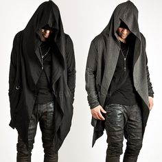 NewStylish mens Avant-garde Unbeatable Style Diabolic Hood Cape Cardigan in Clothes, Shoes & Accessories, Men's Clothing, Coats & Jackets | eBay