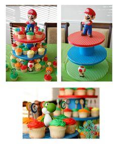 luigi party ideas | Super Mario Bros Party Ideas | yvonnebyattsfamilyfun cupcake