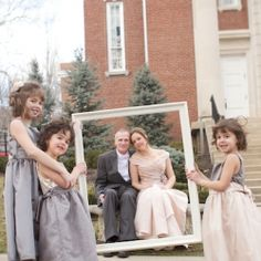 This couple incorporated DIY details and the brides three daughters througout their wedding.  So sweet!