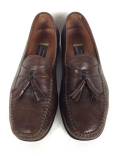 Johnston and Murphy Shoes Mens Brown Leather Loafers 8 #JohnstonMurphy #LoafersSlipOns