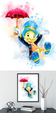 image 0 image 1 image 2 image 3 Request a custom order and have something made . - image 0 image 1 image 2 image 3 Request a custom order and have something made just for you. Disney Baby Nurseries, Disney Nursery, Baby Disney, Disney Love, Disney Disney, Jiminy Cricket, Disney Artwork, Disney Drawings, Pinocchio