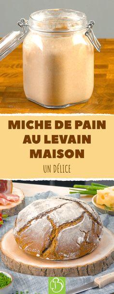 Si vous vous êtes toujours demandé comment faire un pain au levain, cette recette est faite pour vous. Nous expliquons tout, étape par étape pour obtenir une miche délicieuse. Pas de panique, c'est moins compliqué qu'il n'y parait. Et le résultat vous remplira de joie, car rien ne vaut un pain fait maison pour le petit déjeuner ou un en-cas copieux le soir. #recette #miche #pain #levain #seigle #painmaison #technique