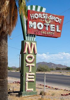 Horse Shoe Motel sign by vintagemxr, via Flickr