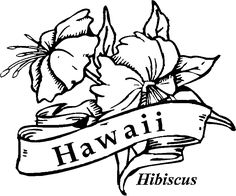 Printable Hawaiian Coloring Pages | 50 State Flowers Coloring Pages for Kids