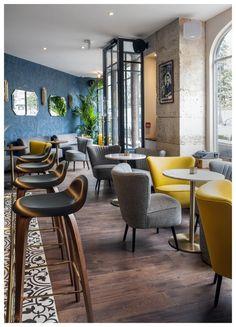 Bathroom Modern Hotel Inspiration New Ideas Lounge Design, Bar Lounge, Cafe Design, Design Hotel, Design Design, Design Ideas, Design Inspiration, Deco Restaurant, Luxury Restaurant
