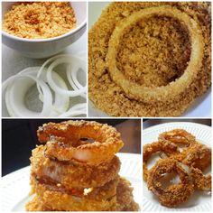 #LowCarb Onion Rings with Pork Rind