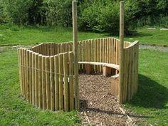 Idee voor speel - tuinkamer