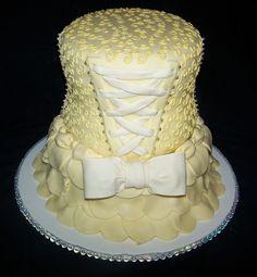 Yellow Bridal Cake https://www.facebook.com/jenns.sweet.thangs