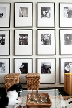Create an art gallery display of photos on your wall