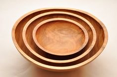 nesting oak bowl trio Eichenschalen Trio Ø by StyrianWoodturning Christmas Gifts For Parents, Family Christmas, Personalized Christmas Gifts, Parent Gifts, Woodturning, Bowls, Vase, Unique Jewelry, Tableware