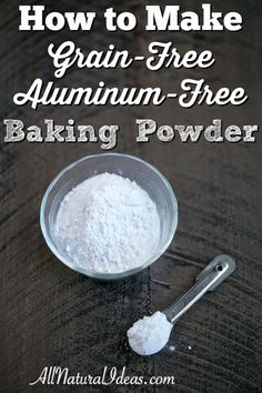 Most store bought baking powders contain aluminum and corn. You can make your…