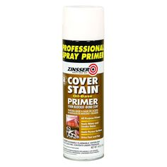 Cover Stain Pro Pack Spray (Case of is an all-purpose, all-surface primer and sealer that effectively seals stains from water, smoke, fire and nicotine and blocks bleeding from tannin, Exterior Stain, Interior And Exterior, Primer Spray Paint, Paint Keys, Oil Stains, Spray Can, Painting Tips, Painting Walls, Painting Cabinets