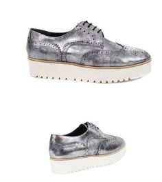 Plateauschuhe BRUNELLA BROGUES METALLIC - ARGENTO By : LOLO THE BALLERINA
