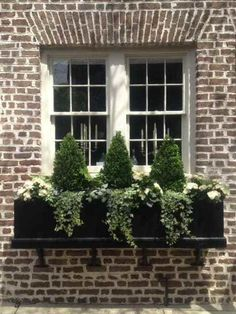 Ideas for a Winter Window Box - Elaine Winter Window Boxes, Christmas Window Boxes, Christmas Porch, Black Christmas, Outdoor Christmas, Diy Garden, Garden Boxes, Design Blogs, Diy Design