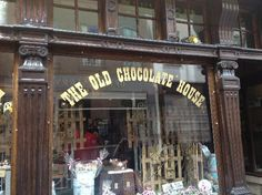 """The Old Chocolate House"" stole our heart because of its old-skool-touch. Recommended for those wanting to experience a nostalgic feeling. Address: Mariastraat, Bruges 8000, Belgium"