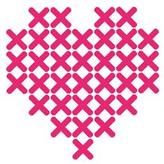 Plak't stickerpatroon Hartje Cross Stitch Heart, Cross Stitch Cards, Cross Stitching, Cross Stitch Embroidery, Cross Stitch Patterns, Knitting Patterns, Lavender Crafts, Stitch Crochet, Yarn Thread