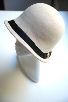 Gabrielle White Cloche Hat