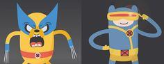 Hora de aventura encontra X-Men nessas artes divertidas! - http://www.garotasgeeks.com/adventure-time-encontra-x-men-nessas-artes-divertidas/