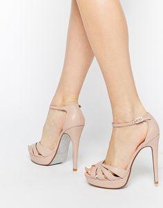 Dune Miko Blush Leather Platform Sandals - Super girly http://asos.do/GQjNKj