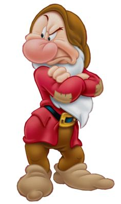 Grumpy is one of the seven dwarfs in Disney& 1937 film Snow White and… Art Disney, Disney Wiki, Disney Kunst, Disney Love, Disney Pixar, Disney Bound, Cartoon Cartoon, Cartoon Characters, Scrapbook Da Disney