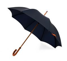 Quality umbrellas in classic and colours from London Undercover. I love the splash of orange on the serious navy. Small details like gunmetal tips and bronze ferrule make it a cut about the normal.