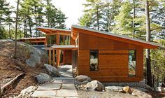 A cottage blends with Muskoka's rock and wood - The Globe and Mail