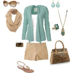 summer outfit! could picture this with long pants for late summer/early fall