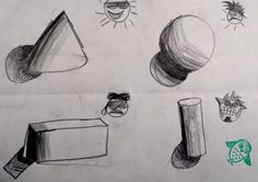 Value & Form Grade) Elements And Principles, Elements Of Art, Perspective Drawing, Arts Ed, Teacher Blogs, Drawing Lessons, Small Art, Op Art, Drawings