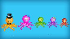 The Finger Family Octopus Family Nursery Rhyme Finger Family Rhymes, Family Songs, Nursery Rhymes, Octopus, Bob, Cupcakes, Cupcake Cakes, Bob Cuts, Preschool