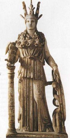 Fidia,statua di Tena Parthènos,copia del III secolo a. C da un originale del V.Atene Museo archeologico nazionale