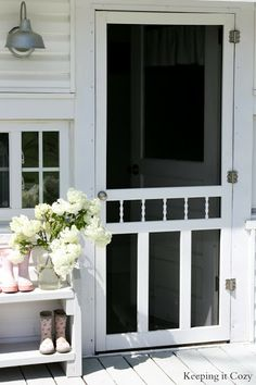 13 country chic ways to refresh a screen door discover more ideas about sliding screen doors barn and screens