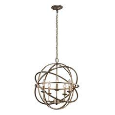 Home Decorators Collection 5-Light Antique Silver Orb Pendant-LSA 55607 - The Home Depot