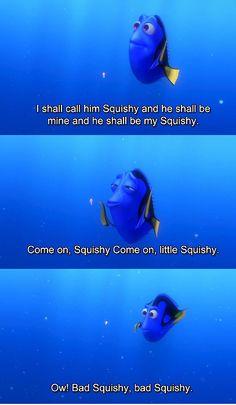 Finding Nemo.  Squishy!