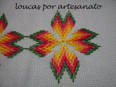 Discover thousands of images about Imagen relacionada Bargello Patterns, Bargello Needlepoint, Bargello Quilts, Needlepoint Stitches, Needlework, Hand Embroidery, Embroidery Designs, Swedish Weaving, Cross Stitch Flowers