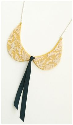 Hambly collar necklace made with acetate overlay on top of felt
