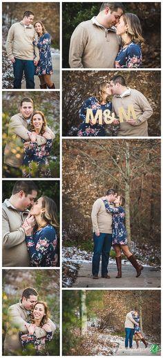 Bentonville Arkansas Engagement Photographer - Leah Marie Landers Photography - Crystal Bridges Winter Engagement Photo