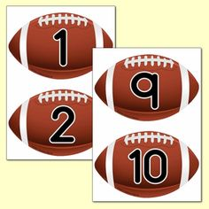 Super Bowl Resources - Primary Treasure Chest Numeracy Activities, Teaching Activities, Teaching Ideas, Printable Number Line, Printable Numbers, Ourselves Topic, Football Images, Pre Kindergarten, Math Numbers