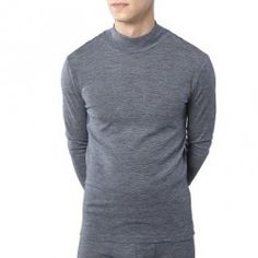 Camiseta cuello alto lana y algodón orgánico Living Crafts