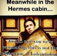 Look, it's the son of Hermes, Nicholas Cage!  XD
