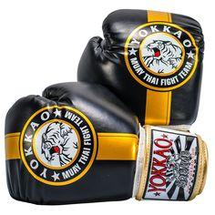 Boxing Gloves | Muay Thai Gloves | Official Fight Team Gold/Black