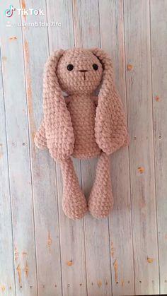 My crochet pattern Crochet plush bunny Knitted plush bunny Cute bunny toy Knitted Bunnies, Knitted Teddy Bear, Crochet Teddy, Bunny Plush, Crochet Dolls, Crochet Cats, Rabbit Toys, Bunny Toys, Crochet Bear Patterns
