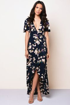 Another floral high-low dress.