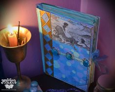 MADE TO ORDER Mermaid Book of Shadows Nautical Water Element Spellbook Sea Journal Fantasy Diary Pagan Elemental Handmade Hardcover Book