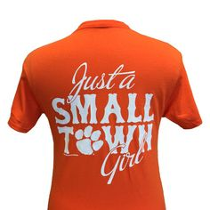 New South Carolina Clemson Tigers Small Town Girl Girlie Bright T Shir | SimplyCuteTees