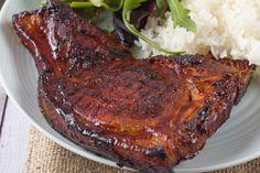 Grilled Honey Garlic Pork Chops